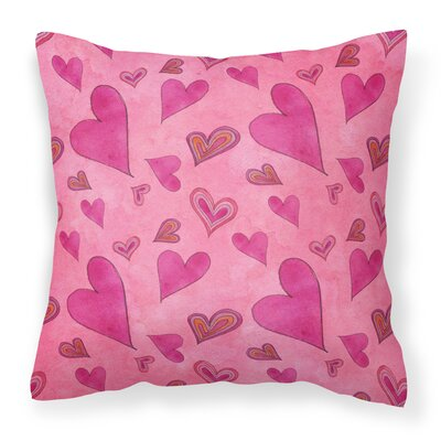 Murphy Love and Hearts Outdoor Throw Pillow