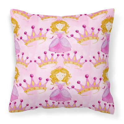 Meadowbrook Princess and Crown Outdoor Throw Pillow