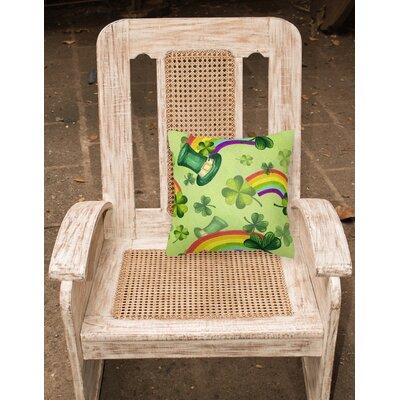 Watercolor St Patricks Day Lucky Leprechan Outdoor Throw Pillow