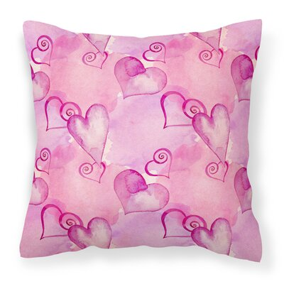 East Milton Hot Hearts Outdoor Throw Pillow Color: Pink