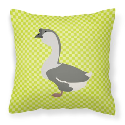 Goose Check Outdoor Throw Pillow Color: Green