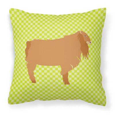 American Lamancha Goat Outdoor Throw Pillow Color: Green