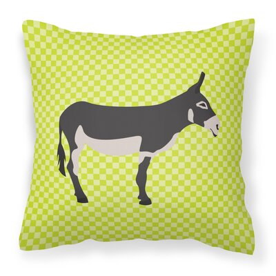 Mammoth Jack Donkey Check Outdoor Throw Pillow Color: Green