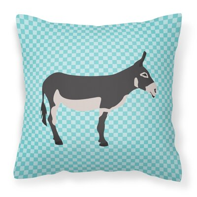 Mammoth Jack Donkey Check Outdoor Throw Pillow Color: Blue