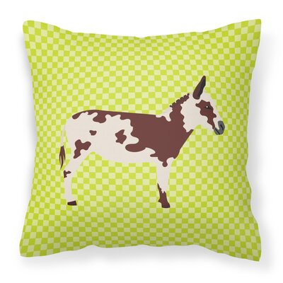 Spotted Donkey Check Outdoor Throw Pillow Color: Green