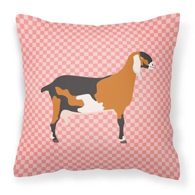 Nubian Goat Check Outdoor Throw Pillow Color: Pink