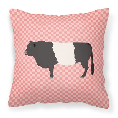 Belted Cow Check Outdoor Throw Pillow Color: Pink