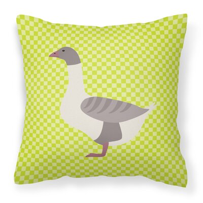 Buff Back Goose Check Outdoor Throw Pillow Color: Green