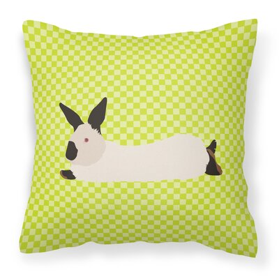Rabbit Check Canvas Outdoor Fabric Throw Pillow Color: Green