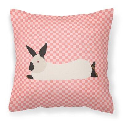 Rabbit Check Canvas Outdoor Fabric Throw Pillow Color: Pink