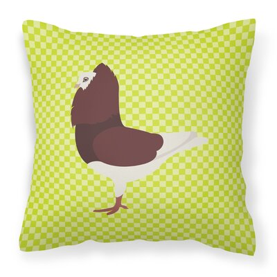 Pigeon Check Outdoor Throw Pillow Color: Green