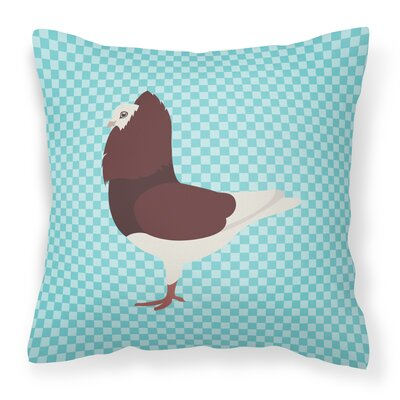 Pigeon Check Outdoor Throw Pillow Color: Blue
