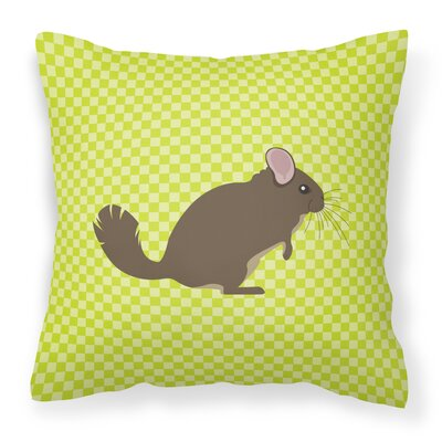 Chinchilla Check Outdoor Throw Pillow Color: Green