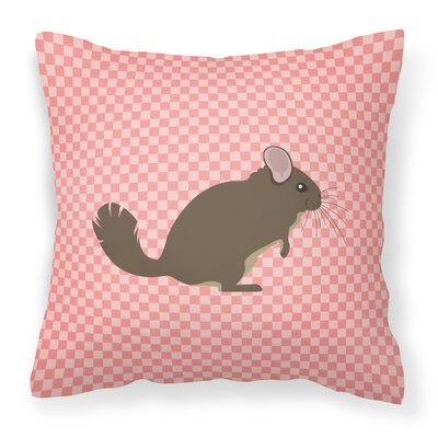 Chinchilla Check Outdoor Throw Pillow Color: Pink