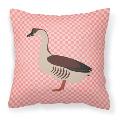 Chinese Goose Check Outdoor Throw Pillow Color: Pink