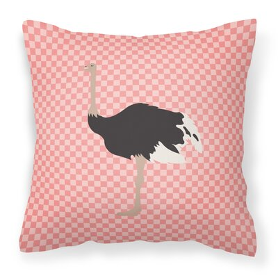 Ostrich Check Outdoor Throw Pillow Color: Pink