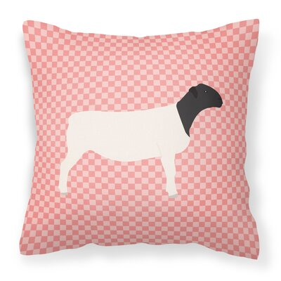 Dorper Sheep Check Outdoor Throw Pillow Color: Pink