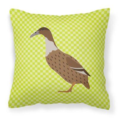 Dutch Hook Bill Duck Check Outdoor Throw Pillow Color: Green