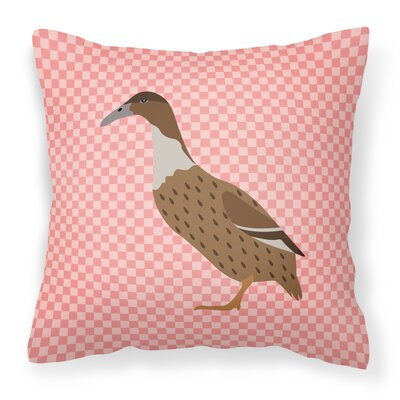 Dutch Hook Bill Duck Check Outdoor Throw Pillow Color: Pink