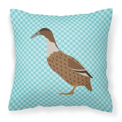 Dutch Hook Bill Duck Check Outdoor Throw Pillow Color: Blue