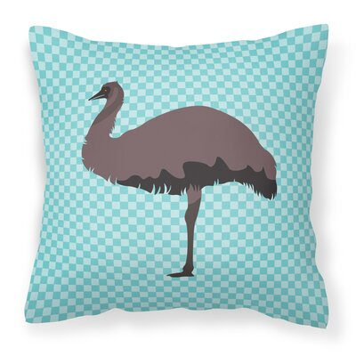 Emu Check Outdoor Throw Pillow Color: Blue
