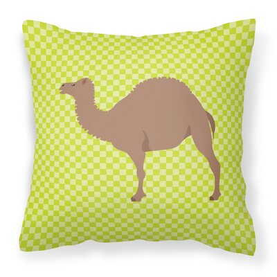 F1 Hybrid Camel Check Outdoor Throw Pillow Color: Green