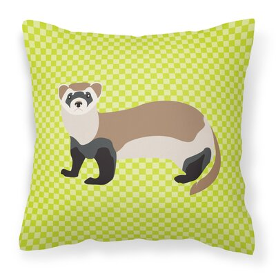 Ferret Check Outdoor Throw Pillow Color: Green