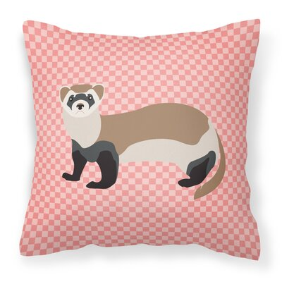 Ferret Check Outdoor Throw Pillow Color: Pink