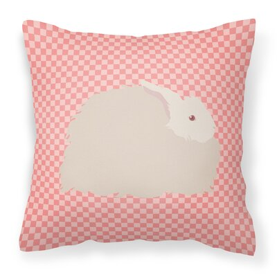 Angora Rabbit Check Outdoor Throw Pillow Color: Pink