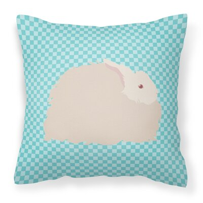 Angora Rabbit Check Outdoor Throw Pillow Color: Blue
