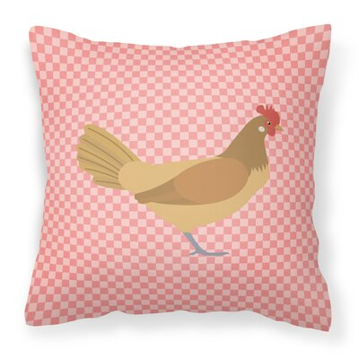 Chicken Check Outdoor Throw Pillow Color: Pink