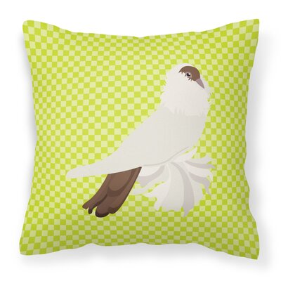 Pigeon Check Fabric Outdoor Throw Pillow Color: Green