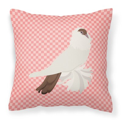 Pigeon Check Fabric Outdoor Throw Pillow Color: Pink
