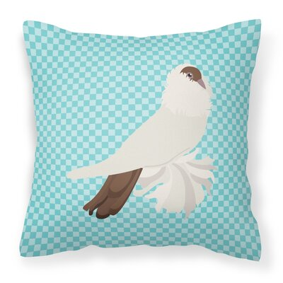 Pigeon Check Fabric Outdoor Throw Pillow Color: Blue