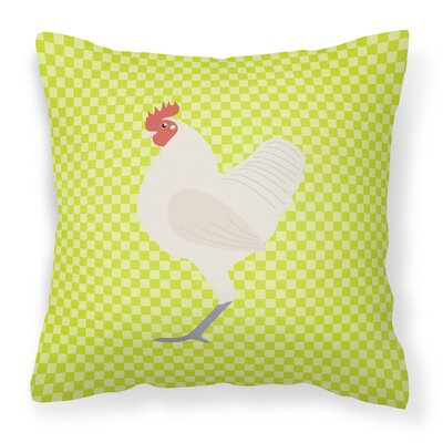 Langshan Chicken Check Outdoor Throw Pillow Color: Green
