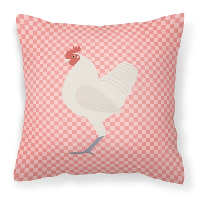 Langshan Chicken Check Outdoor Throw Pillow Color: Pink