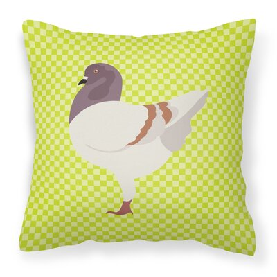 Modena Pigeon Check Outdoor Throw Pillow Color: Green