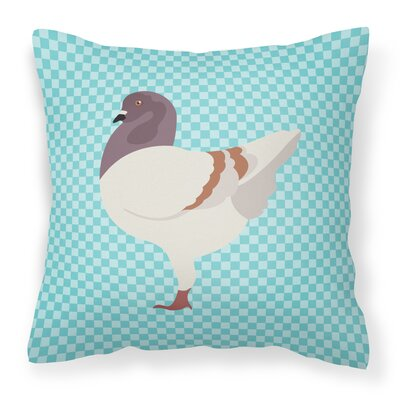 Modena Pigeon Check Outdoor Throw Pillow Color: Blue