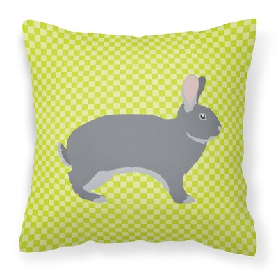 Eclectic Rabbit Check Outdoor Throw Pillow Color: Green