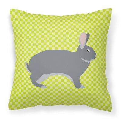 Eclectic Rabbit Check Outdoor Throw Pillow Color: Green