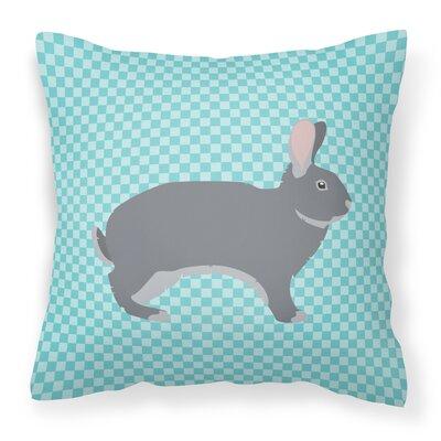 Eclectic Rabbit Check Outdoor Throw Pillow Color: Blue