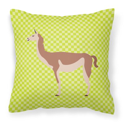 Guanaco Check Outdoor Throw Pillow Color: Green