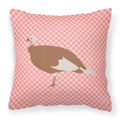 Hen Check Outdoor Throw Pillow Color: Pink