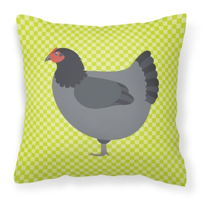 Graphic Print Chicken Check Outdoor Throw Pillow Color: Green
