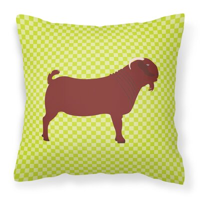 Kalahari Goat Check Outdoor Throw Pillow Color: Green