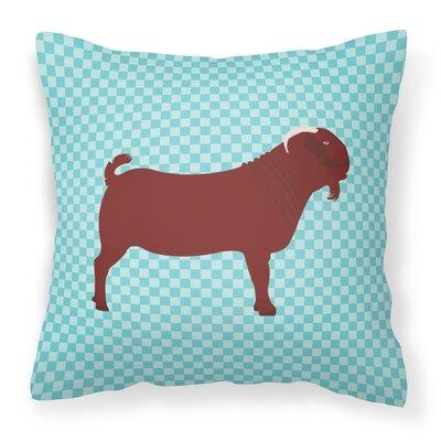 Kalahari Goat Check Outdoor Throw Pillow Color: Blue