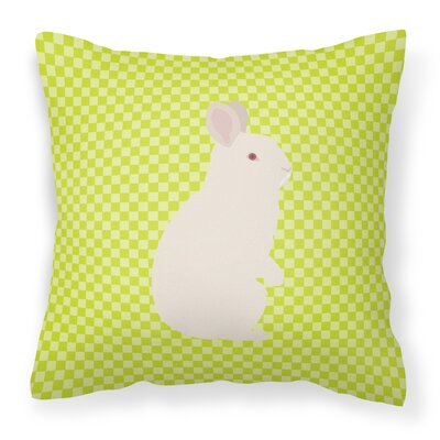 New Zealand Rabbit Check Outdoor Throw Pillow Color: Green