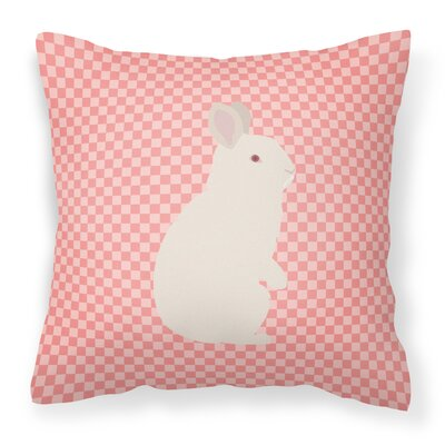 New Zealand Rabbit Check Outdoor Throw Pillow Color: Pink