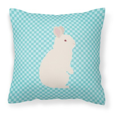 New Zealand Rabbit Check Outdoor Throw Pillow Color: Blue