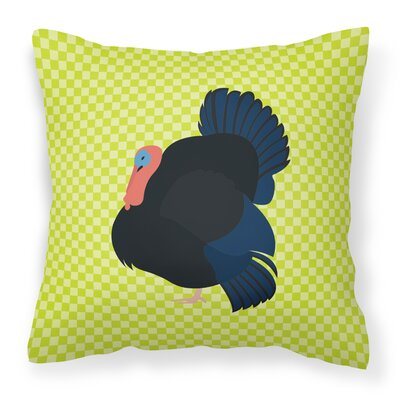 Norfolk Turkey Check Outdoor Throw Pillow Color: Green